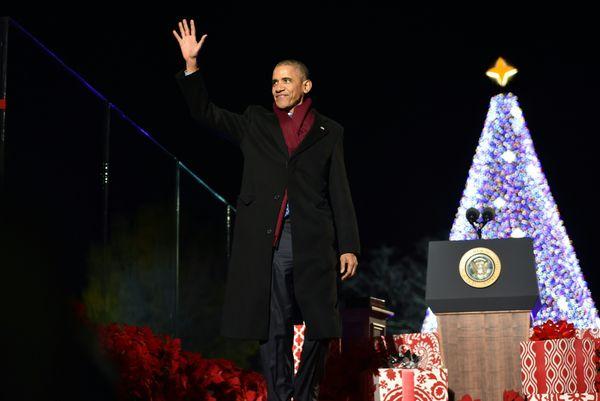 The last White House Christmas tree for Barack Obama.