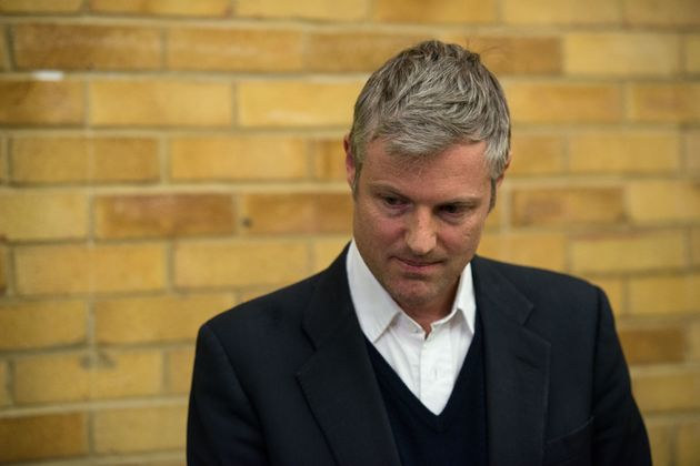Zac Goldsmith reacts as Liberal Democrat candidate Sarah Olney is announced as the winner of the Richmond...