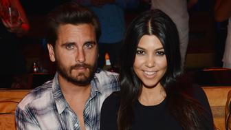 LAS VEGAS, NV - APRIL 18:  Scott Disick and Kourtney Kardashian celebrate Kourtney Kardashian's birthday at 1 OAK Nightclub at The Mirage Hotel & Casino on April 18, 2015 in Las Vegas, Nevada.  (Photo by Denise Truscello/WireImage)