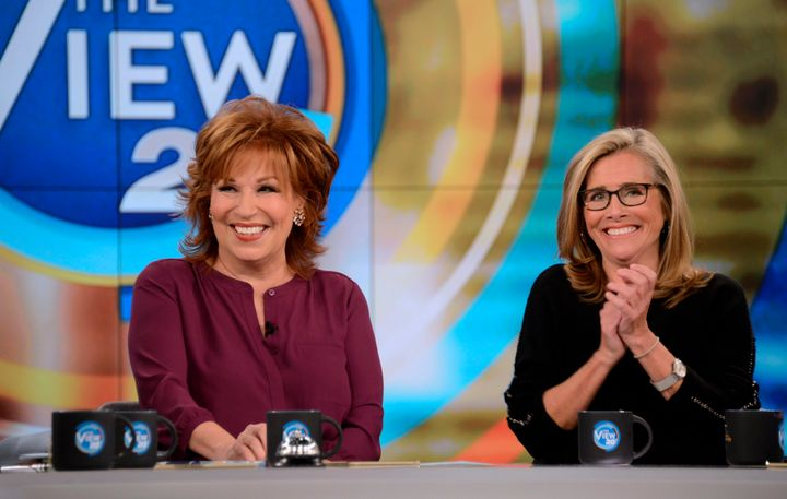 Joy Behar (left with Meredith Vieira) was insulted by radio host Bill Cunningham for her views on Donald Trump's deal to keep