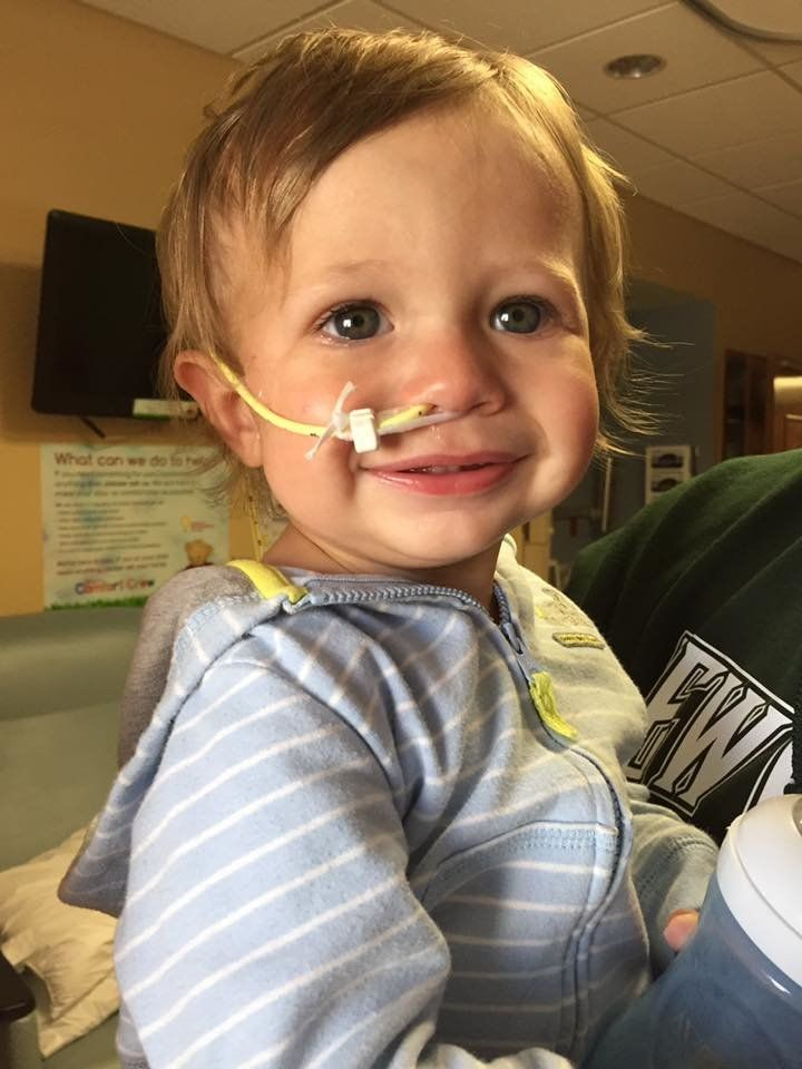 Elliot Carter has been diagnosed withfood protein-induced enterocolitis syndrome (FPIES), a rare food allergy commonly triggered by dairy or soy products.