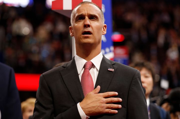 Corey Lewandowski told the audience at a post-election forum Thursday that the editor of The New York Times should serve time