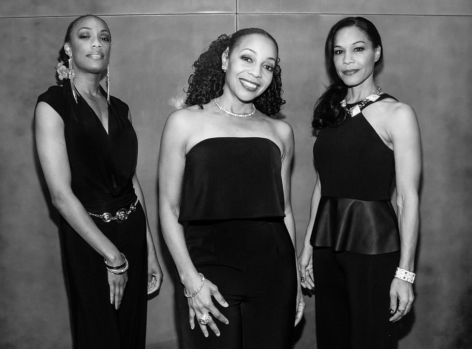(L-R) Rhona Bennett, Terry Ellis and Cindy Herron-Braggs of En Vogue arrive for Education Through Music-Los Angeles' 10th Ann