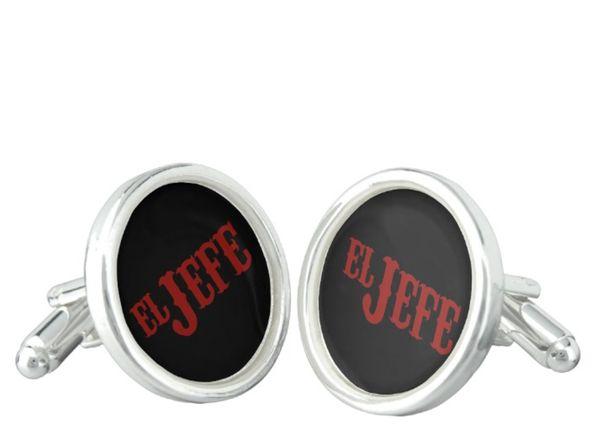 """$31.20, Zazzle. <a href=""""http://www.zazzle.com/el_jefe_translation_the_boss_cufflinks-256355555274506282"""" target=""""_blank"""">Buy"""