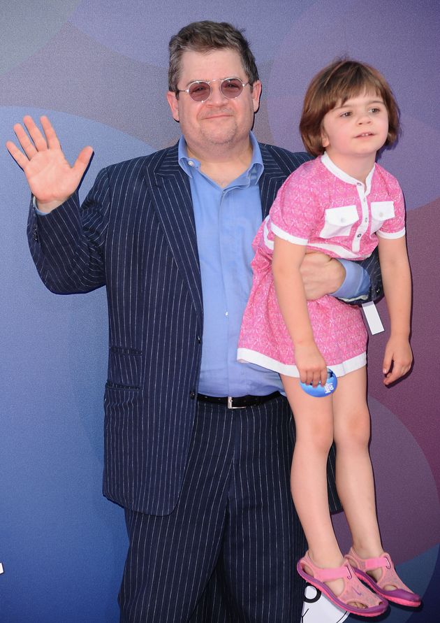 Patton Oswalt and daughter Alice Oswalt attend the premiere of