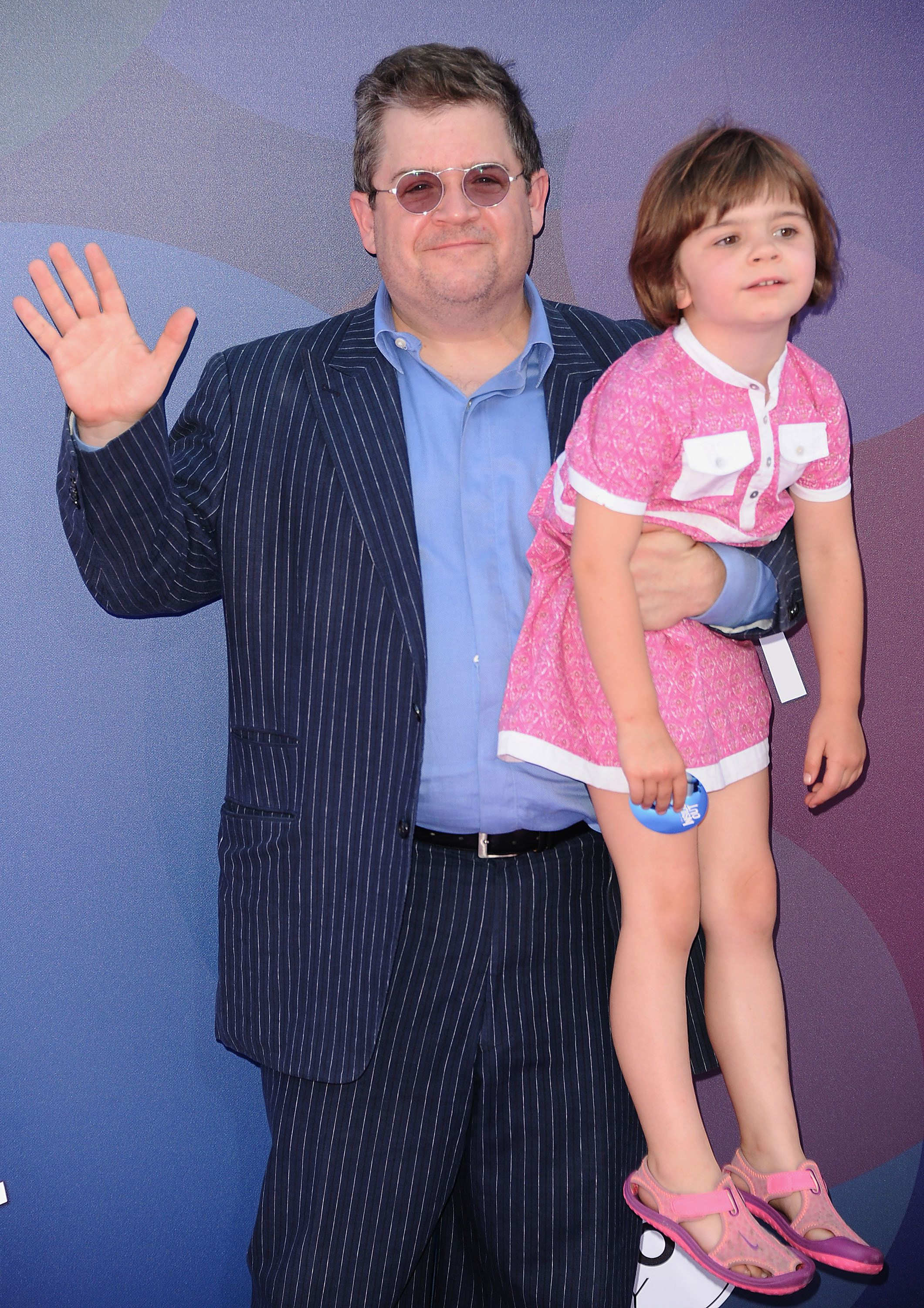 """Patton Oswalt and daughter Alice Oswalt attend the premiere of """"Inside Out"""" in 2015."""