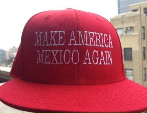 "$32, YaBasta Trump. <a href=""https://www.etsy.com/listing/450271626/make-america-mexico-again-hat-this-is?ga_order=most_relev"