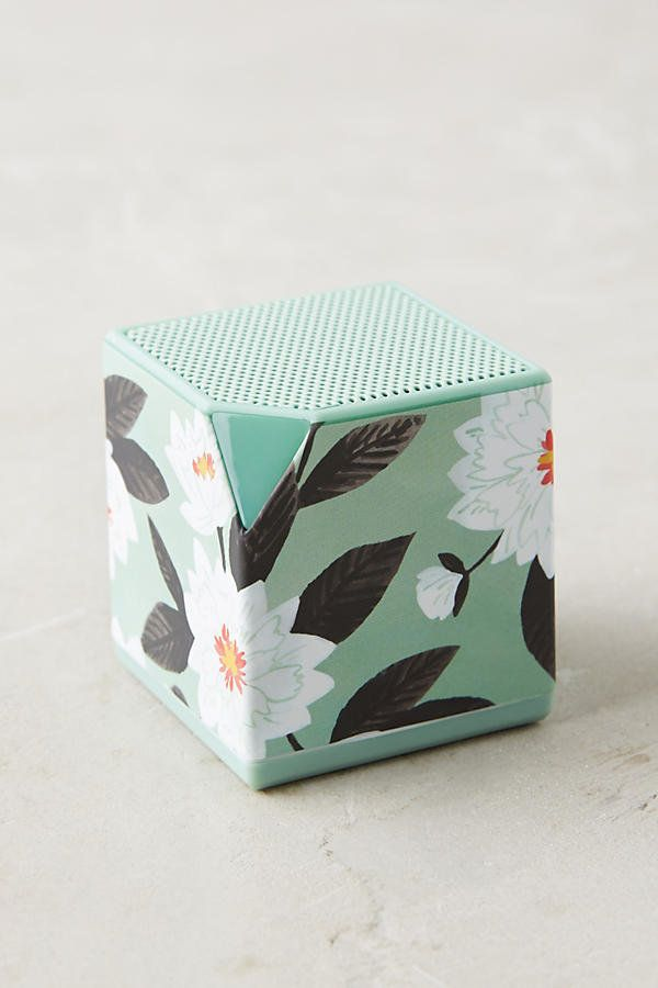 "Minted Daisy Cube Speaker, $58, <a href=""https://www.anthropologie.com/shop/minted-daisy-cube-speaker?category=gifts-phone-ca"