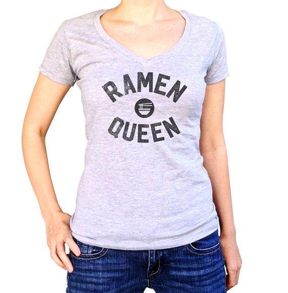 "Ramen Queen T-Shirt<br>$25.00+, <a href=""https://www.etsy.com/listing/281477314/ramen-queen-t-shirt-funny-hipster-foodie?ref="