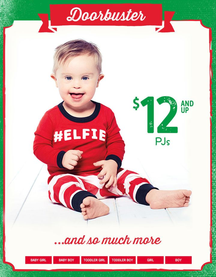 Asher, now 16 months old, is now starring in holiday ads for OshKosh B'gosh.
