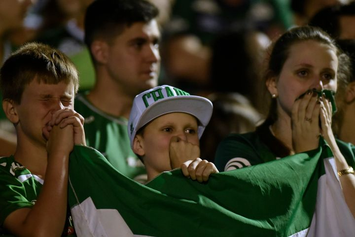 Fans of the Chapecoense soccer club gathered to mourn the Monday plane crash that killed 71 people.