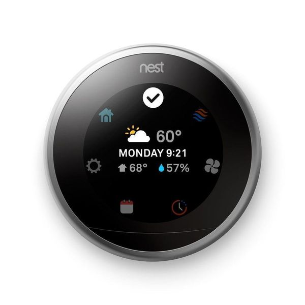 "Nest Learning&nbsp;Thermostat, $249, <a href=""http://www.homedepot.com/p/Nest-Learning-Thermostat-3rd-generation-T3007ES/2063"