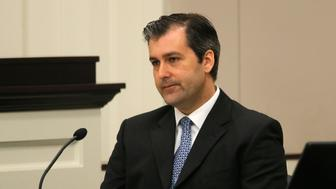 Former North Charleston police officer Michael Slager testifies in his murder trial at the Charleston County court in Charleston, South Carolina, November 29, 2016.  REUTERS/Grace Beahm/Post and Courier/Pool