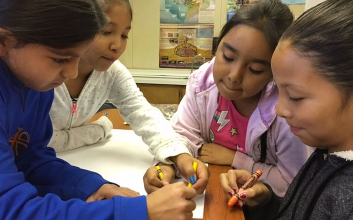 Fourth-grade students at Wilson Elementary School in Sanger, Calif., participate in a makerspace activity, which many educati