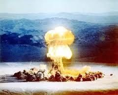 Atomic bombs routinely lit up the Nevada sky and mountains.