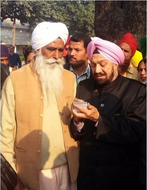 Waryam Singh (left) was permanently released from Bareilly Jail in Uttar Pradesh at the age of 70. Singh was convicted under