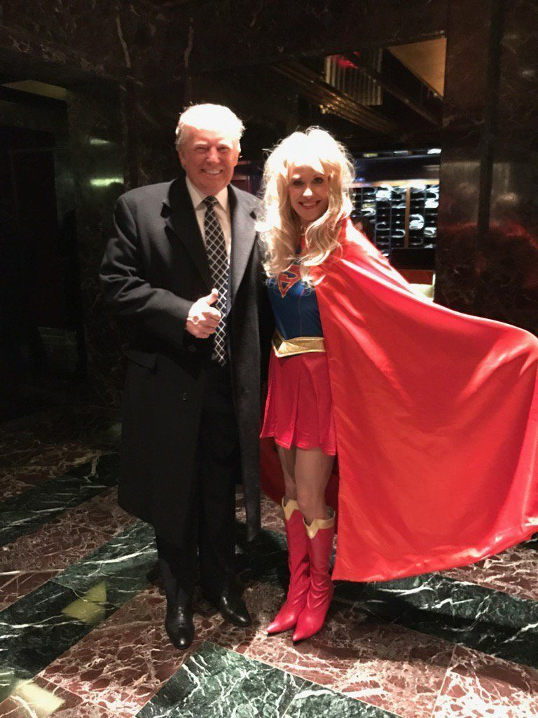 Donald Trump Attends 'Villains And Heroes' Costume Party As