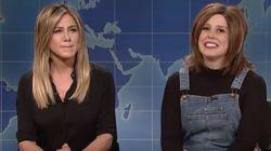 Jennifer Aniston Crashes 'SNL' To Stop Vanessa Bayer's Rachel