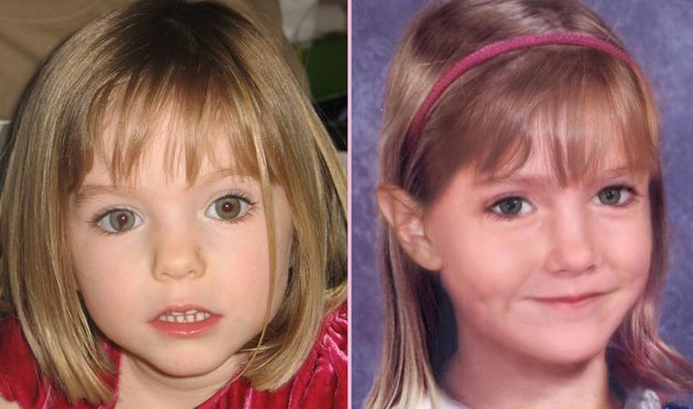 Madeleine McCann as she was aged three and how she may have looked aged
