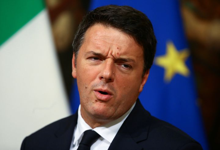 Italian Prime Minister Matteo Renzi leads a news conference to mark his 1000 days in government in Rome, Italy, November 18,