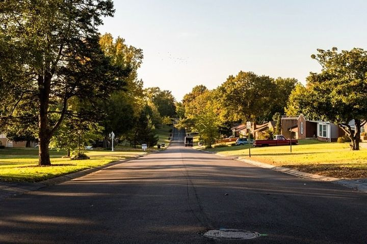 A typical neighborhood of Affton, South St. Louis, where new arrivals continue to be placed. Over the decades, migrants and r