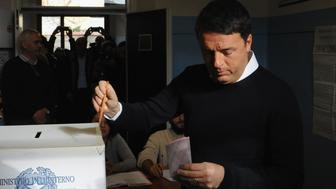 FLORENCE, ITALY - DECEMBER 04:  Italian Prime Minister and Democratic Party leader Matteo Renzi  casts his vote for the constitutional referendum on December 4, 2016 in in Pontassieve near Florence, Italy. The result of the government referendum that will change the constitution, is considered crucial for the political future of Italy and for the personal future of its Prime Minister.  (Photo by Laura Lezza/Getty Images)