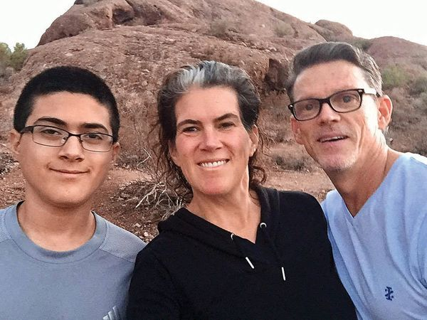 """Heidi Simon: """"60 years of POSITIVE LIVINGready to take on any mountain! Blessed to have family, friends, and much love"""