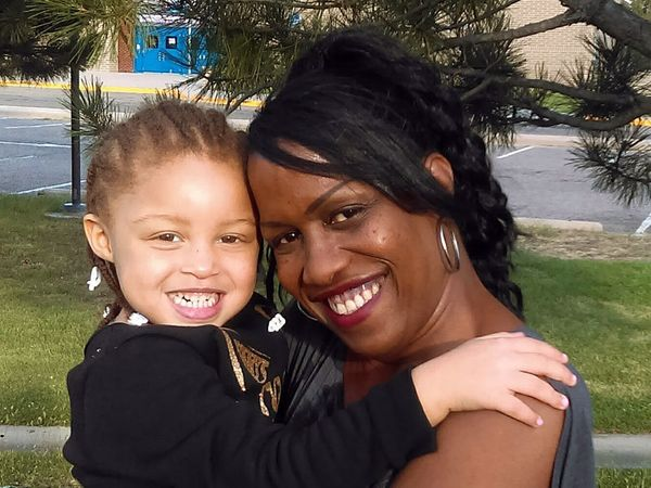 """Davinna Conner: """"At the park with my great niece. Showing everyone that joy doesn't stop. Live life to the fullest. Stop HIV"""