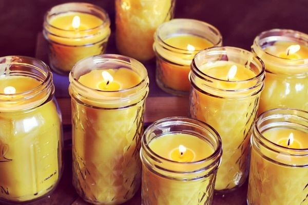 "<strong>Get the directions to create <a href=""http://www.abeautifulmess.com/2012/09/homemade-beeswax-candles.html"" targe"