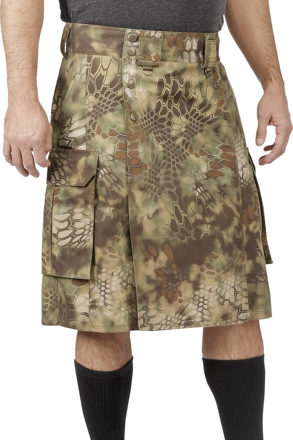 If you're in a situation where you're wearing a kilt, it's not a bad idea for it to be camouflaged (why call attention to you