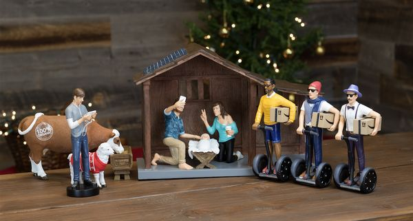 "Finally, a nativity scene that reflects the modern world we live in. This <a href=""https://www.modernnativity.com"" target=""_b"