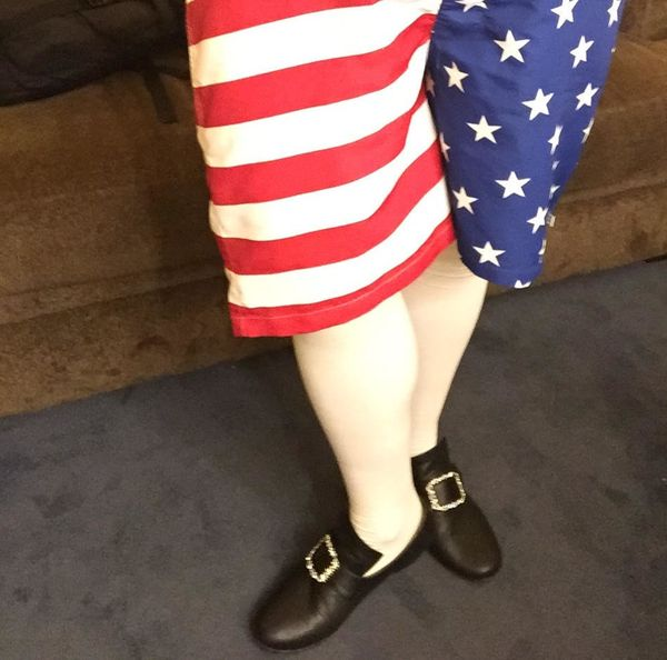 """<strong>""""My pre-show shorts are a statement to make clear where my true allegiance lies!""""</strong>"""