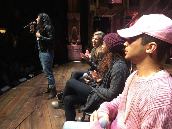 """<strong>""""Before the show I got to do a Q&amp;A with my cast for 1,300 NYC public high school kids. They love Jordan Fisher!""""<"""