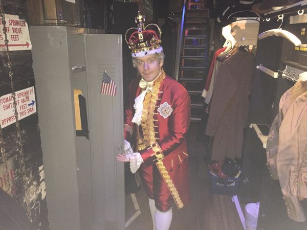 """<strong>""""I have one very special backstage job. I open this locker for our prop master so he can store the muskets in there a"""
