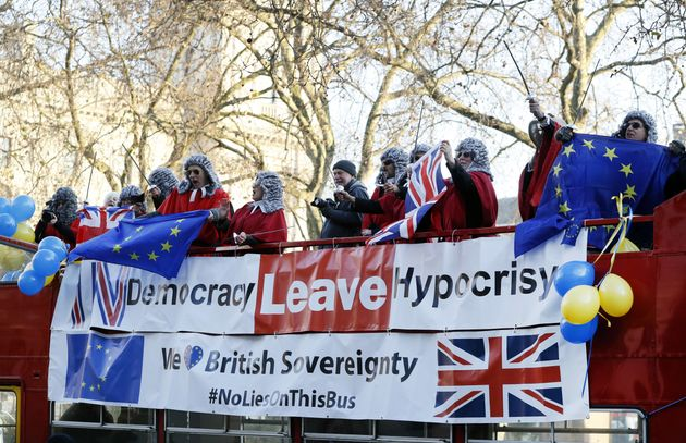 Pro-Remain protestors dressed as
