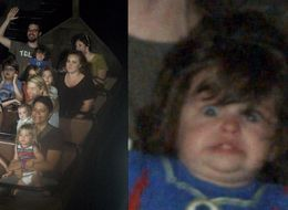 Dad Shares Hilarious Photo Of 1-Year-Old Daughter On 'Frozen' Ride