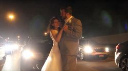 Newlyweds Share First Dance On Motorway After Getting Stuck In Traffic