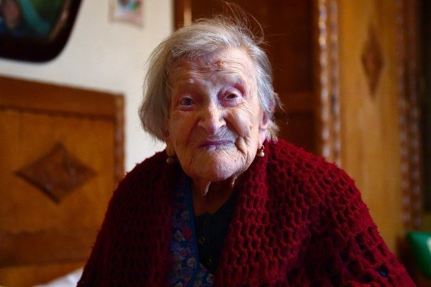 <p>Emma Morano, 116, in Verbania, North Italy, 2016.</p>