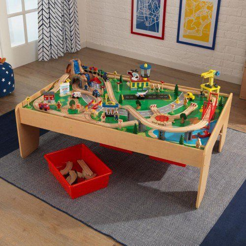 KidKraft's  Waterfall Mountain Train Table Set