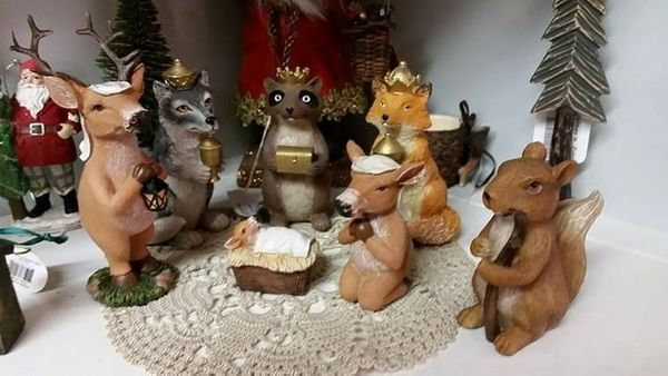 "Oestreicher said this woodland Nativity was displayed at a store in North Carolina. He likes it, but said ""the Santa in the b"