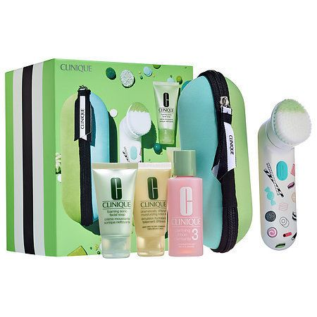 "Clinique Sweet Sonic cleansing brush set for oilier skins, $85.90, <a href=""http://www.sephora.com/sweet-sonic-cleansing-brush-set-for-oilier-skins-P413364?skuId=1839190&icid2=products%20grid:p413364"" target=""_blank"">Sephora </a>"