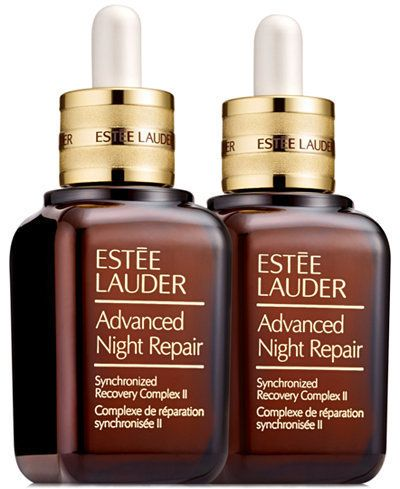 "Estée Lauder Advanced Night Repair synchronized recovery complex II duo, $155, <a href=""http://www1.macys.com/shop/product/estee-lauder-advanced-night-repair-synchronized-recovery-complex-ii-duo?ID=2638125&CategoryID=55537&LinkType=&selectedSize=#fn=sp%3D1%26spc%3D1360%26slotId%3D60"" target=""_blank"">Macy's</a>"