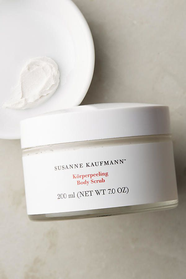 "Susanne Kaufmann body scrub, $76, <a href=""https://www.anthropologie.com/shop/susanne-kaufmann-body-scrub?category=bath-body&color=010"" target=""_blank"">Anthropologie</a>"