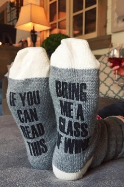 """$18, Pineridge Hollow.<a href=""""http://pineridge-hollow.myshopify.com/products/bring-me-a-glass-socks?variant=2674489171"""