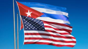 Flags of the United States of America nad Cuba