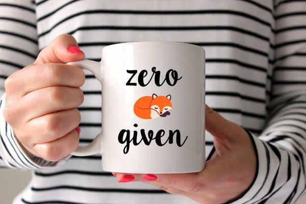 "$14, Zonk Shop.<a href=""https://www.etsy.com/listing/261827191/zero-fox-given-mug-fox-mug-funny-mug"" target=""_blank"">Bu"
