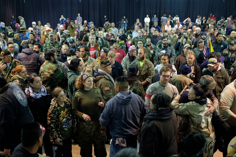 More than 500 people participate in a forgiveness ceremony for veterans at the Four Prairie Knights Casino & Resort on th