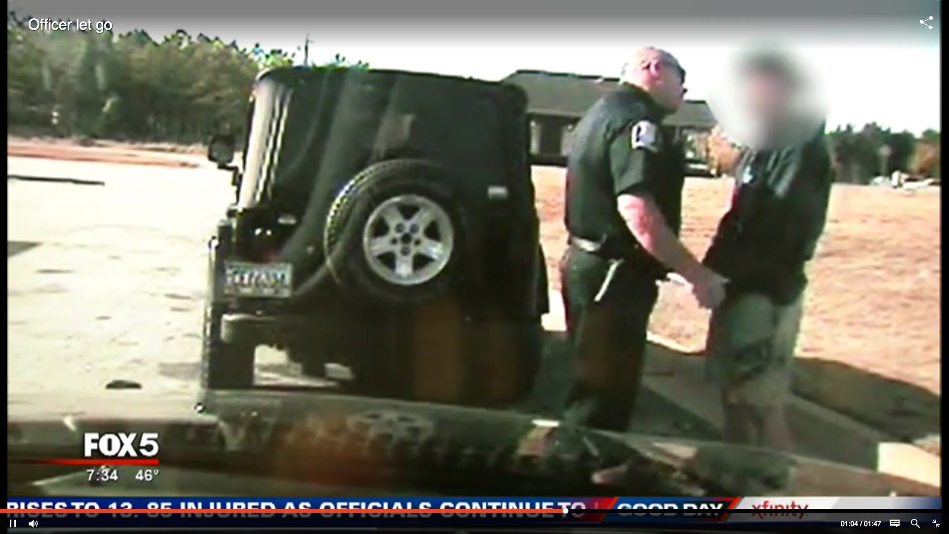 Dashcam video taken from Social Circle police Officer James Sander's vehicle shows him chewing out a teenager during a Nov. 2