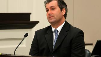 Former North Charleston police officer Michael Slager looks on during testimony in his murder trial at the Charleston County court in Charleston, South Carolina, November 29, 2016.  REUTERS/Grace Beahm/Post and Courier/Pool