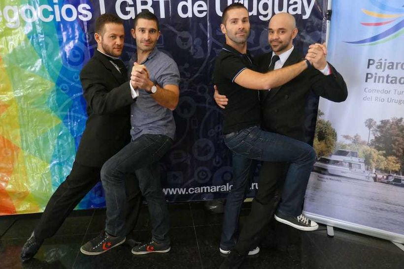 Tango boys Juan, Stefan, Seb and Rodrigo in Montevideo